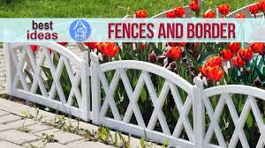 beautiful garden ideas decorative fences and border for