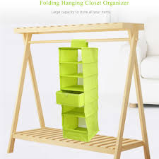 aliexpress com buy folding hanging 6 compartment shelf closet