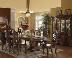 pedestal dining room sets pedestal dining set vendome cherry by acme furniture ac60000set