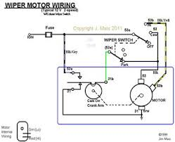 the operation wiring diagram of wiper motors news on motors