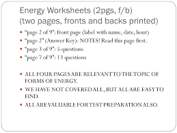 types of energy worksheet answers reliant energy