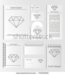 template set hipster geometric typography gradient stock vector