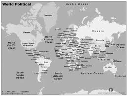 world map political with country names free free world major countries map black and white major countries