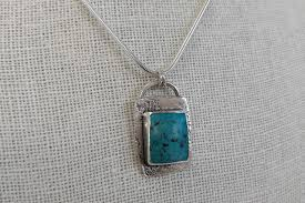 small turquoise pendant necklace images Tibetan turquoise sterling silver large pendant olive mai jpg