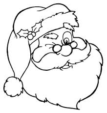 free santa coloring clip art image clipart illustration