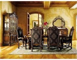 Tuscan Dining Room Tables Kraleene Dining Room Tables Clean Linear Design Is Topped Off
