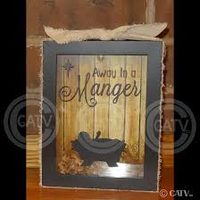 set of 2 diy christmas shadow box vinyl only away in a