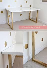 Diy Study Desk Top 10 Gold Spray Paint Diy Ideas A Ikea Hack