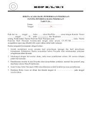 format berita acara kerusakan mesin contoh berita acara pho proses ba pemeriksaan pek