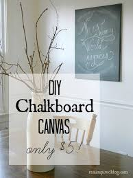 real inspired diy chalkboard canvas