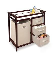 chagne baskets badger basket modern changing table with 3 baskets