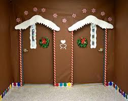 Office Door Decoration Backyards Twin Ginger Bread House Christmas Door Decorating