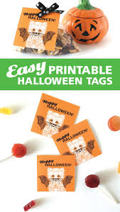 printable halloween bag tags are an easy fast way to decorate for