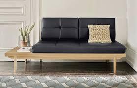 canape lit en cuir la banquette lit façon cuir le déco de mlc