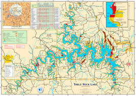 how big is table rock lake large detailed tourist map of table rock lake