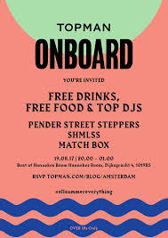 amsterdam you u0027re invited to our summer boat party topman