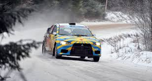 rally subaru snow mitsubishi lancer rally winter snow race lancer front rally hd