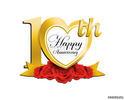 10th wedding anniversary wedding anniversary logo heart 10 stock image and royalty free