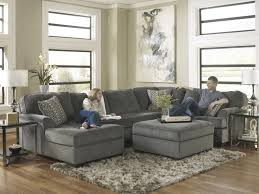 Ashley Furniture Leather Sectional With Chaise Ashley Furniture Loric Smoke Contemporary 3 Piece Sectional With