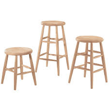 Unfinished Bar Table Scoop Seat Bar Stool And Counter Stool