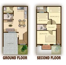 100 two story townhouse floor plans townhouse plans two