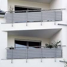 lavitio sichtschutz uni grau - Sichtschutz Balkon Grau