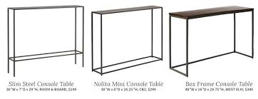 36 inch console table choosing a console table and mirror for an entryway making it lovely