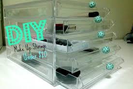 Under Desk Storage Drawers by Diy Make Up Storage Under 20 Youtube