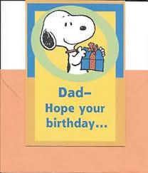 happy birthday dad snoopy with present hallmark greeting card ebay