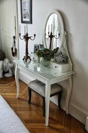 Glass Makeup Vanity Table Innovative An Expensive Makeup Vanity Table To Thrifty