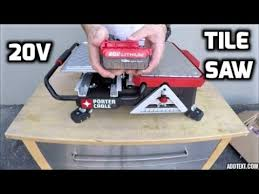 porter cable table saw review porter cable cordless 20v tile saw unboxing test review youtube