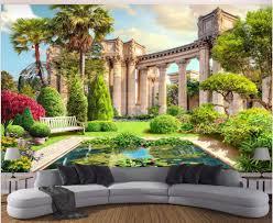 online get cheap decorative wall columns aliexpress com alibaba 3d room wallpaper custom photo mural roman column garden view background decor painting 3d wall mural