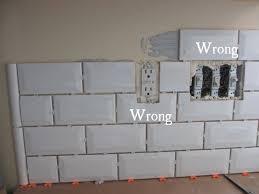 installing subway tile backsplash in kitchen plain innovative installing subway tile backsplash how to install