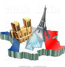 French Flag Eiffel Tower Avenue Clipart Of Three Tourist Attractions Of Notre Dame De Paris