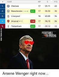 Arsenal Tottenham Meme - mp team pts chelsea 17 3511 43 o manchester a 2 21 17 3620 36