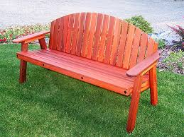 redwood love seat gold hill redwood products