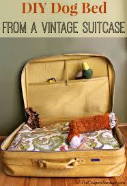 Homemade Dog Beds Diy Dog Bed With Vintage Suitcase