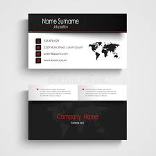 modern black white business card template stock vector image