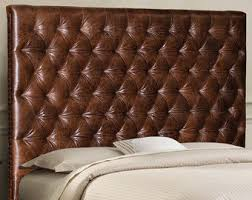 Tufted Leather Headboard Leather Headboard Etsy
