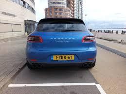 Porsche Macan Blue - spotted this nice blue porsche macan turbo vlissingen boulevard