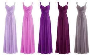shades of purple color for purple mother of the bride dresses