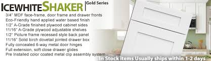 ice white shaker gold series rta cabinets kitchen cabinets