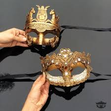masquerade masks for couples his hers couples masquerade mask from 4everstore on etsy