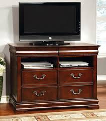 cherry wood tv stands cabinets mandura collection transitional style cherry finish wood tv stand