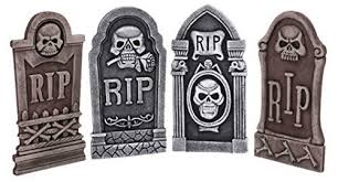 Halloween Decoration Props Uk by Skeleton Rip Tombstone Graveyard X 4 Halloween Party Prop Amazon