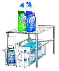 Under Sink Organizer Amazon Com Decobros Stackable Under Sink Cabinet Sliding Basket
