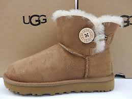 ugg womens boots size 8 ugg womens boots mini bailey button ii chestnut size 8 ebay