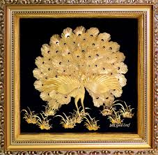 24k gold foil 3d dancing peacocks home decor q best gold