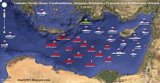 map usa and russia update of mediterranean naval situation 1 10 2013 usa
