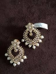 heavy diamond earrings jewellery designs heavy diamond chandbalis traditional gold